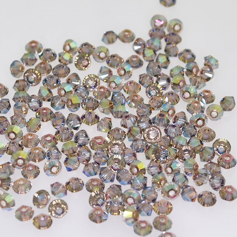 Swarovski Bead - 3mm Faceted Bicone (5301/5328) - Crystal Iridescent Green (36)