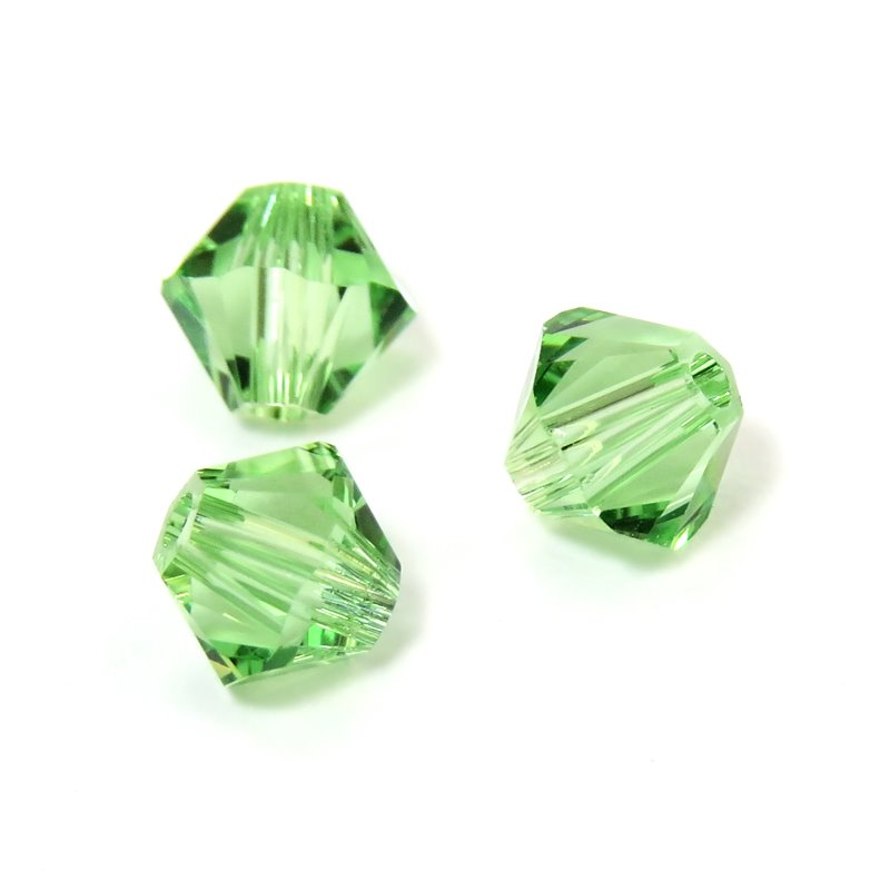 Swarovski Bead - 4mm Faceted Bicone (5301/5328) - Peridot (36)