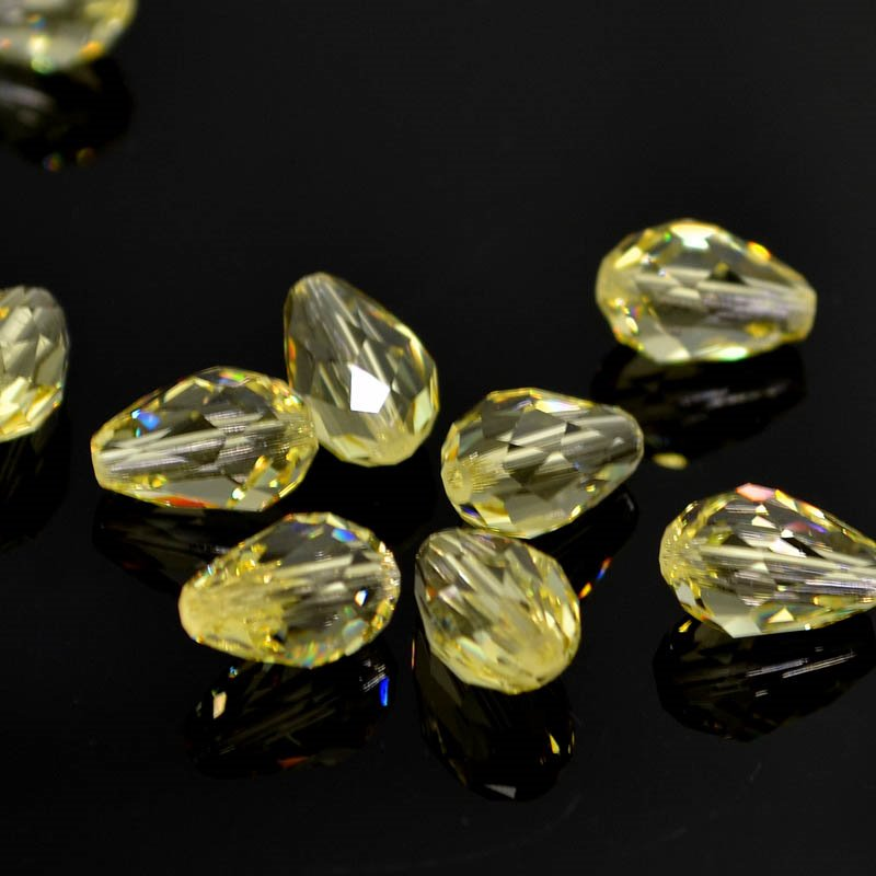 Swarovski Bead - 7x10.5mm Faceted Drop (5500) - Jonquil