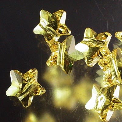 Swarovski Bead - 8mm Star (5714) - Light Topaz
