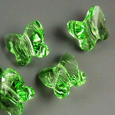 Swarovski Bead - 8mm Faceted Butterfly (5754) - Peridot