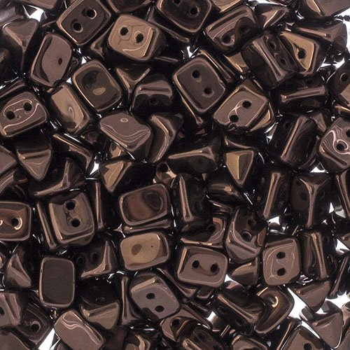 Czech Seedbeads - 2-Hole Trios - Bronze (300 pcs)