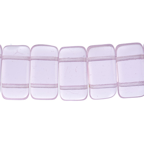 Finding - Glass Carrier Beads - Pink (strand 15)