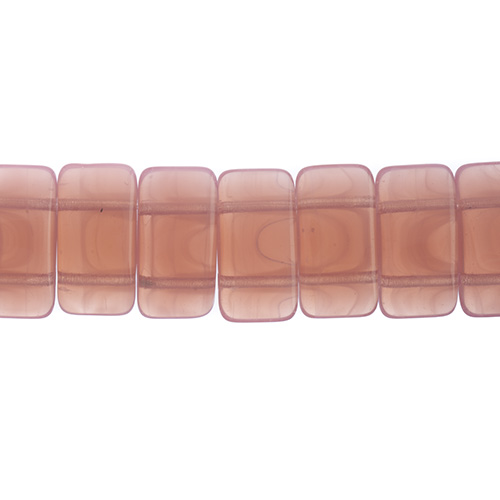 Finding - Glass Carrier Beads - Pink Opal (strand 15)