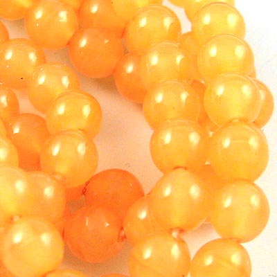 Glass - 6mm Druks - Florida Orange (strand)