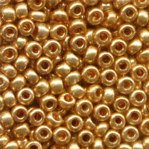 Czech Seedbeads - 8/0 Seedbead - Metallic Gold (500 g)