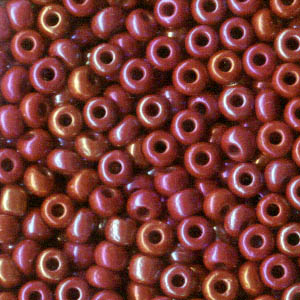Czech Seedbeads - 8/0 Seedbead - Opaque Ruby AB (500g)
