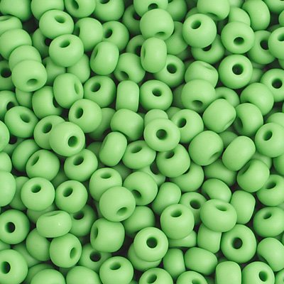 Czech Seedbeads - 6/0 Seedbead - Matte Opaque Light Green (500g)
