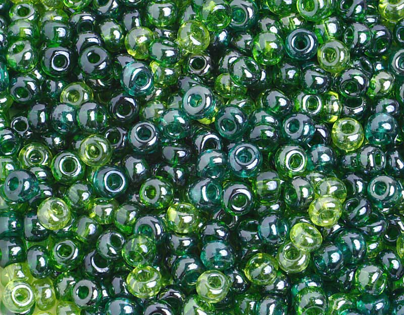 Czech Seedbeads - 6/0 Seedbead - Seagreen Lustered Mix (500g)