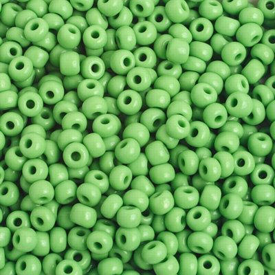 Czech Seedbeads - 6/0 Seedbead - Light Green (20 grams)