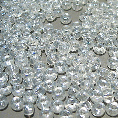 Czech Seedbeads - 6/0 Seedbead - Transparent Lustre Crystal (20 grams)