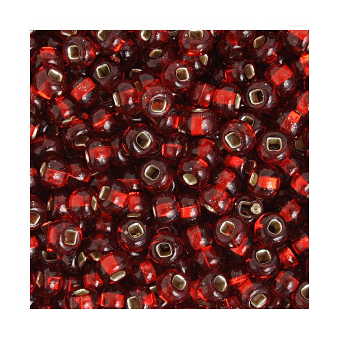 Czech Seedbeads - 2/0 Seedbead - Silver Lined Transparent Light Red (500g)