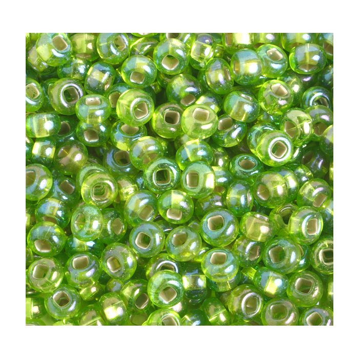 Czech Seedbeads - 2/0 Seedbead - Transparent Light Chartreuse Green Silver Lined AB (500g)