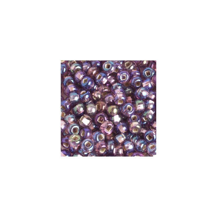 Czech Seedbeads - 2/0 Seedbead - Transparent Light Amethyst Silver Lined AB (500g)