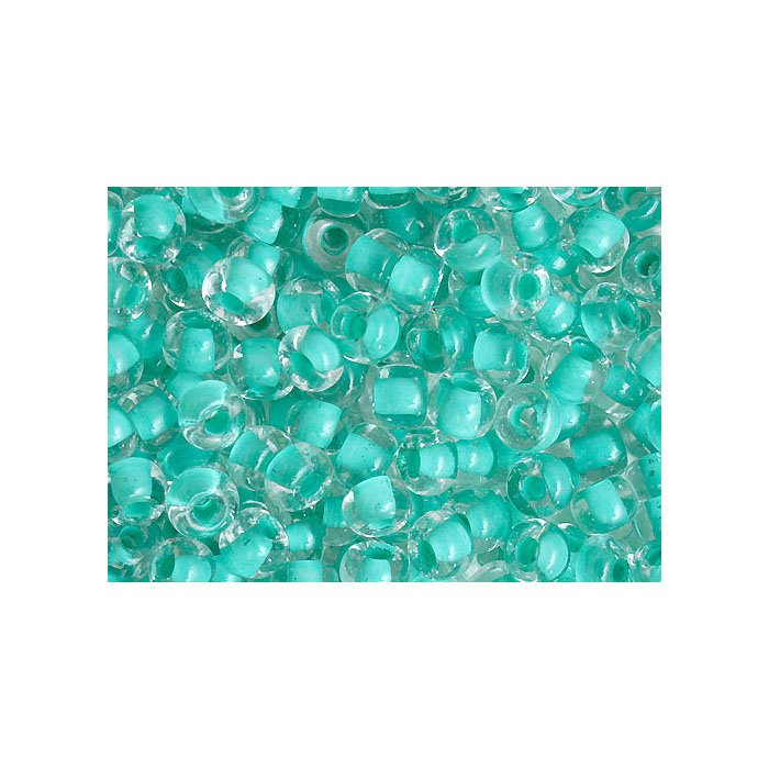 Czech Seedbeads - 2/0 Seedbead - Crystal/Mint Green Shiny Terra Colour (500g)
