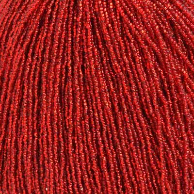 Czech Seedbeads - 11/0 Seedbead - Silver lined Light Red (hank)