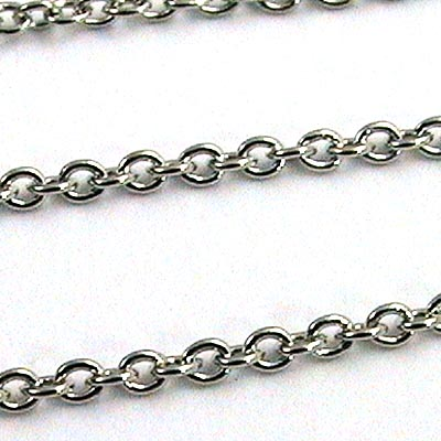Chain Extra Fine Links 1mm - Rhodium (25 m card)