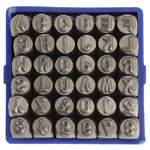 Tools - 4mm Shape Stamp/Punch Collection - UPPERCASE Basic (Set)