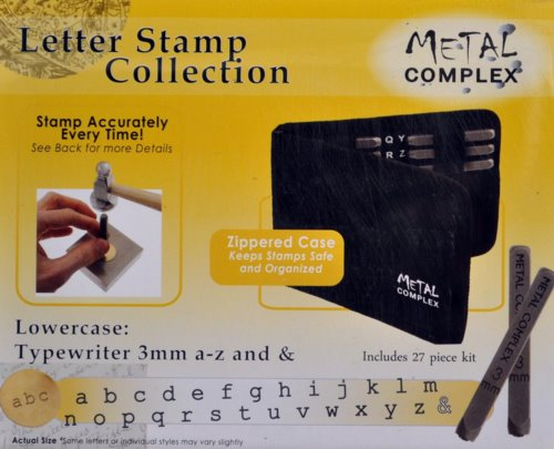 Tools - 3mm Letter Stamp/Punch Collection - Typewriter Lowercase (Set)
