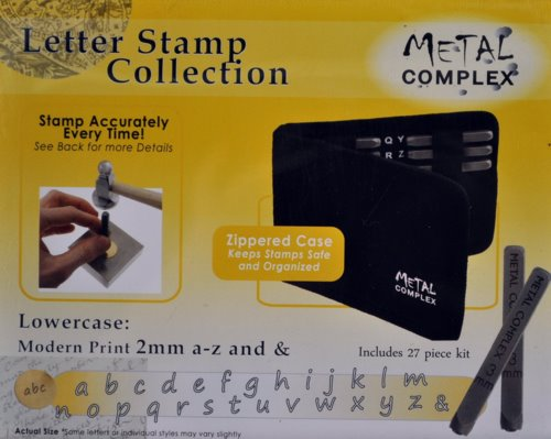 Tools - 2mm Letter Stamp/Punch Collection - Modern Print Lowercase (Set)