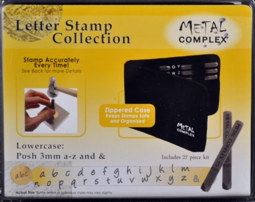 Tools - 3mm Letter Stamp/Punch Collection - Posh Lowercase (Set)