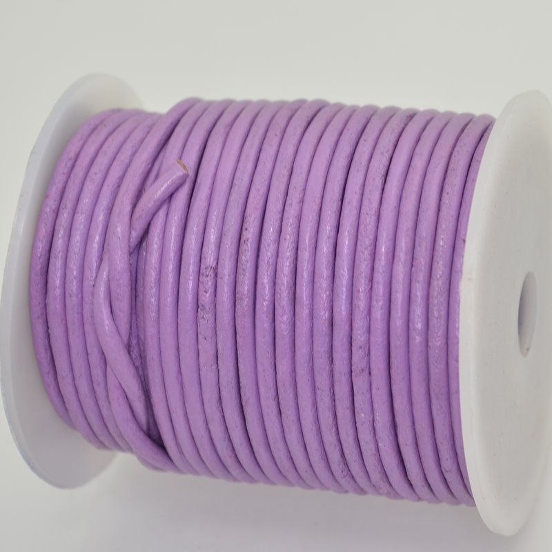 Stringing - 3mm Leather Cord - Violet (1 Metre)