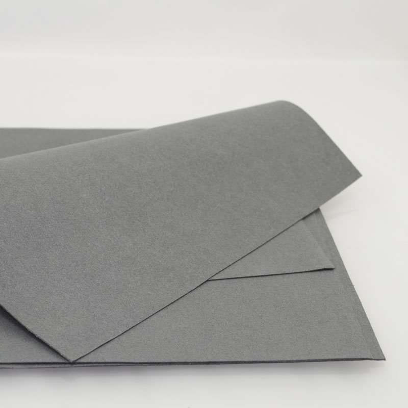 Accessories - 8.5in square Faux Suede - Silver Grey