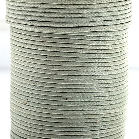 Cotton Cord - 1mm Round Waxed - Seafoam (25m)