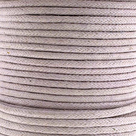 Cotton Cord - 1.5mm Round Waxed - Mauve (25m)