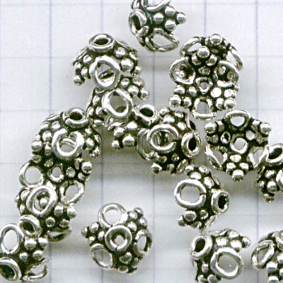 Bead Cap Lacy 10mm - Sterling
