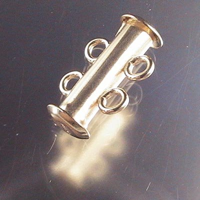 Magnetic Clasp Slide Tube 2-Strand - 14 Kt Gold-filled