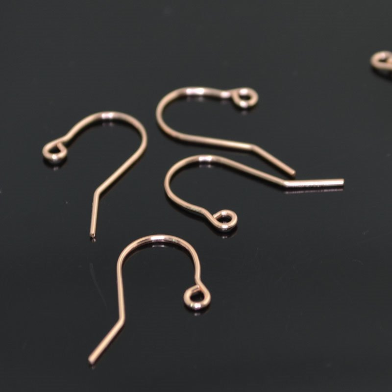 Earring - Simple Earwire - 14 Kt Rose Gold-filled (Pair)