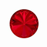 18 mm Rivoli Cut (1122) - Scarlet (6)