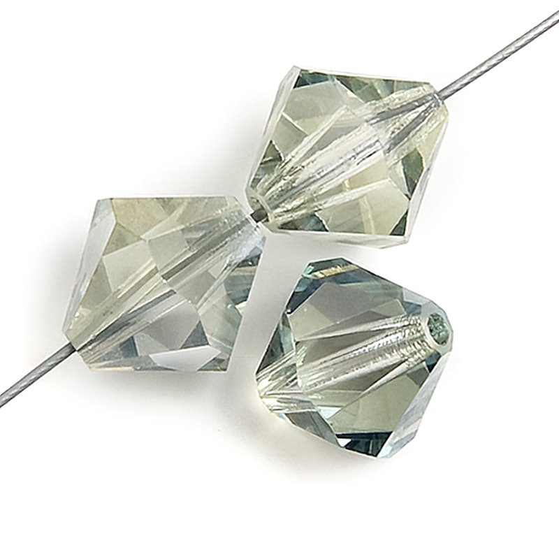 Preciosa Machine Cut Crystal - 4mm Faceted Bicone - Viridian (40)