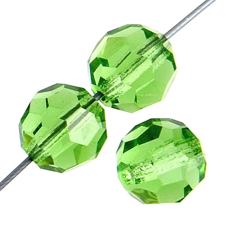 Preciosa Machine Cut Crystal - 4mm Faceted Round - Peridot (40)