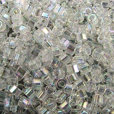 Delicas - 11/0 Japanese Cylinders - Cut - Crystal AB (50 g)