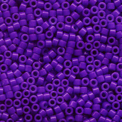 Delicas - 11/0 Japanese Cylinders - Dyed Opaque Purple (250 g)