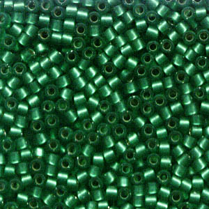 Delicas - 11/0 Japanese Cylinders - Semi-Matte Silver Lined Medium Green (250 g)