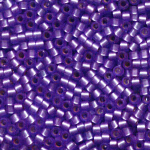 Delicas - 11/0 Japanese Cylinders - Semi-Matte Silver Lined Purple (250 g)