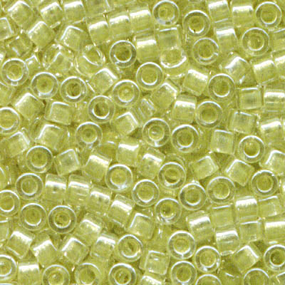 Delicas - 11/0 Japanese Cylinders - Sparkling Light Yellow Lined Crystal (50 g)