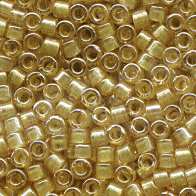 Delicas - 11/0 Japanese Cylinders - Sparkling Light Yellow Lined Topaz (250 g)