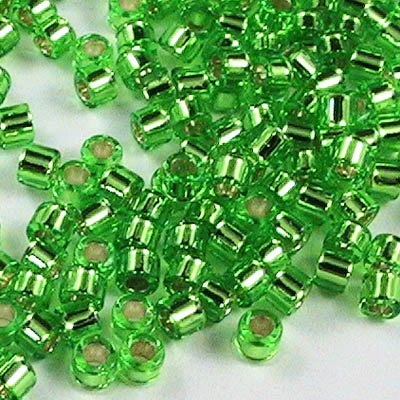 Delicas - 11/0 Japanese Cylinders - Silver Lined Peridot (250 g)