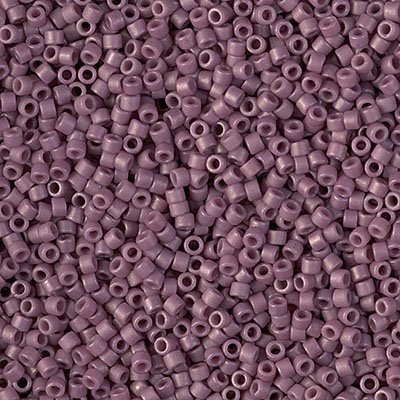 Delicas - 11/0 Japanese Cylinders - Frosted Glazed Purple Mulberry Matte (250 g)