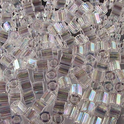 Delicas - 8/0 Japanese Cylinders - Cut - Crystal AB (10 grams)