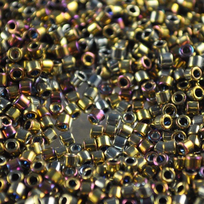 Delicas - 10/0 Japanese Cylinders - Purple Metallic Gold (tube)