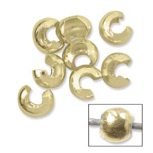 Crimp Bead Covers Smooth 4mm - Gold-filled (100)