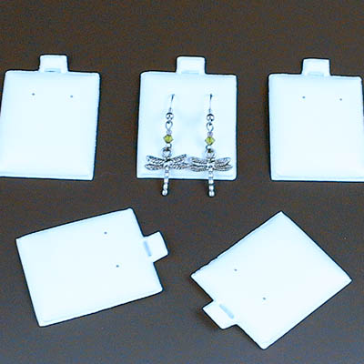 Packaging - 2in Puff Earring Cards - White (10)