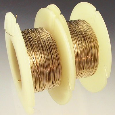 Gold-filled Wire - 28ga Round Wire - Dead Soft (Inch)