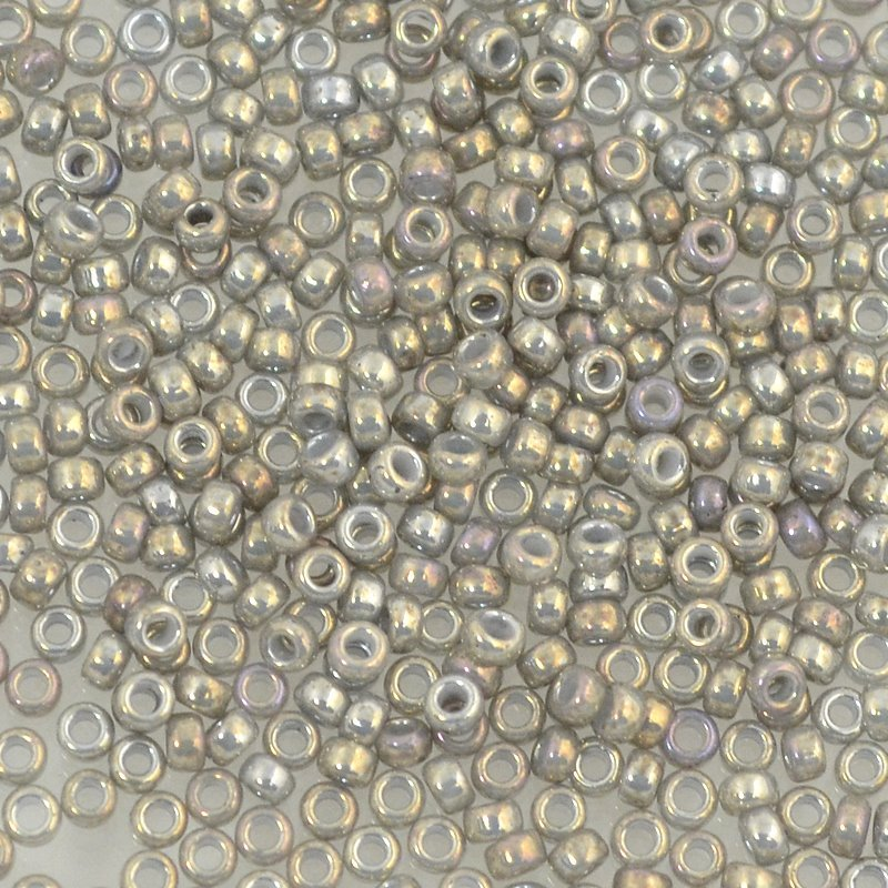 Japanese Seedbeads - 15/0 Miyuki Seedbeads - Opaque Smoke Grey Lustre