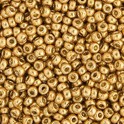 Japanese Seedbeads - 15/0 Miyuki Seedbeads - Galvanized Gold [Duracoat] (250 grams)